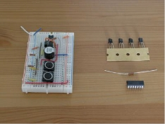 Figure 1: An example of electric circuit using breadboard