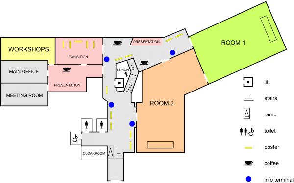 Map of conference premises