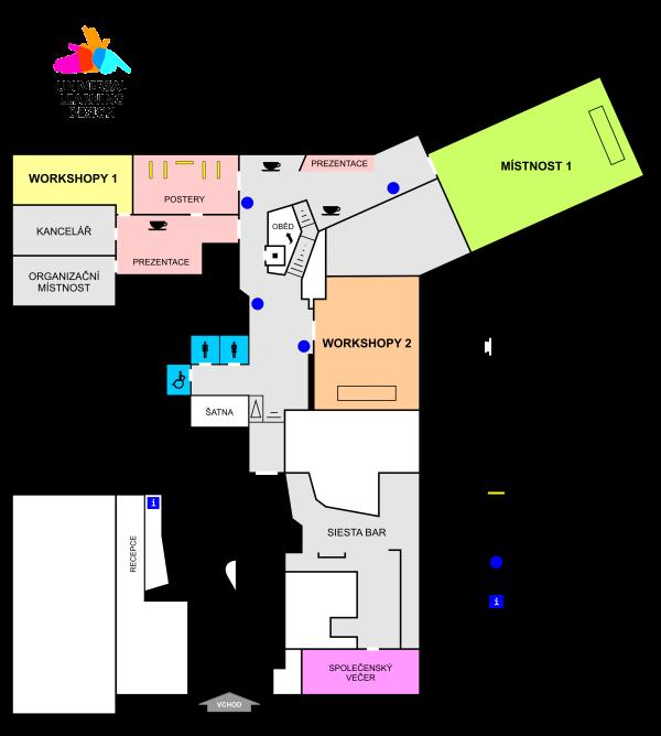 Plán konferenčních prostor
